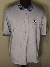 Mickey Mouse Golf Walt Disney World Embroidered Mens Large L Blue Polo Shirt