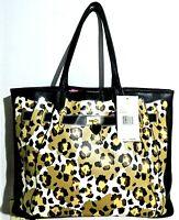 New  Betsey Johnson Fee Fi Faux Large Cheetah Print Tote