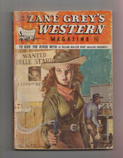 Zane Grey's Western Mag Jan 1950 Pulp William MacLeod Raine Tom W Blackburn Thom