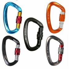 Mountaineering Caving Rock Climbing Carabiner D Shaped Safety Master Screw Lock