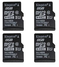 4 x Kingston 8GB Micro SD Memory Card SDHC Class 10 out of package