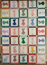GORGEOUS Vintage Sunbonnet Sue Antique Quilt Top, MINT ~BEAUTIFUL FABRICS!