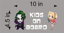 Joker And Harley Quinn Kids On Board Vinyl Vehicle Decal Kids Window Sticker