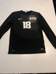 Game Worn TCU Horned Frogs Soccer Jersey Texas Christian Used Nike #18 Size M