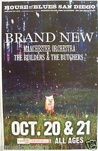 BRAND NEW / MANCHESTER ORCHESTRA 2009 SAN DIEGO CONCERT TOUR POSTER - Alt Rock