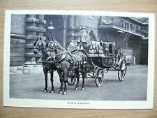 Vintage & Original Postcard- STATE LANDAU,THE ROYAL MEWS, BUCKINGHAM PALACE