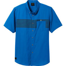 Oakley Mens Romeo Woven Short Sleeve Shirt in Blue Size: SMALL (S) NWT