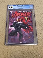 Marvel Action Avengers 9 CGC 8.0 White Pages (Classic Black Panther Cover!)