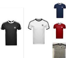 Adidas Originals 3 Stripe Tee California Crew Neck T shirt Size S M L XL XXL