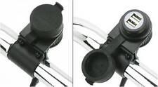 Alimentatore USB da Manubrio per Moto Harley Davidson Yamaha Kawasaki Triumph Su