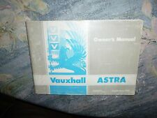 Vauxhall Astra Owner's Manual 1981.
