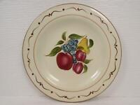 Around the Orchard by Home Dinner Plate Fruit Center Brown Trim Scrolls & Dots