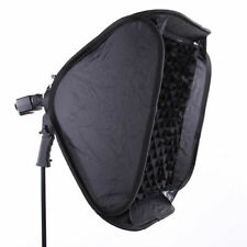 61cm 60cm Softbox Bowens Flash Speedlite SOPORTE+MANUAL Agarre+Peinado Miel
