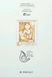 [SJ] Czechoslovakia VYSTAVY 2013 (souvenir card) MNH *serial no: 0001067
