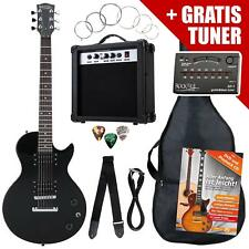 PACK GUITARE ELECTRIQUE SET DEBUTANTS AMPLIFICATEUR ACCORDEUR SAC CABLE SANGLE