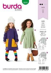 Burda Kids Schnittmuster - Kleid - Langarmkleidchen - Nr.9310