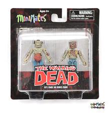 Walking Dead Minimates Series 1 Guts Zombie & Burned Zombie