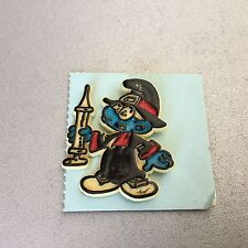 Vintage 1980 # SMURFS Official Peyo Pin Pins Spilla Plastica PUFFO QUATTROCCHI
