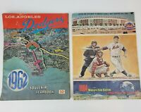 Lot Of (2) Vintage 1960's Baseball Souvenir Books