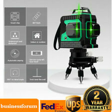 12 Lines 3d 360 Rotary Green Laser Level Cross Self Leveling Measure Tool Us