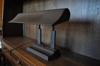 1940's Antique Cast Iron Fluorescent Office Desk Banker Lamp Industrial Vintage