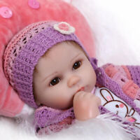 Soft Silicone Reborn Baby Doll Toys Lifelike 40cm Vinyl Birthday Gift for Girl