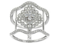 Size 6 - Bella Luce 1.40ctw Diamond Simulant Sterling Silver Ring