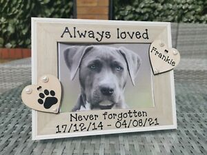 Personalised Dog Memorial Photo Picture Frame. In Loving Memory. Any Wording.