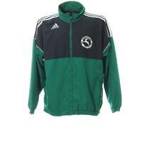 Adidas Sportjacke Gr. L Jacket Zip Stehkragen Fußball Sport Traingsjacke