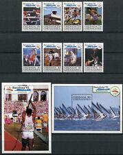 Grenada Grenadinen 1990 Olympiade Barcelona Olympics 1329-36 Block 202-203 MNH