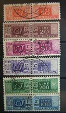 Italia 1955 Lotto  Pacchi  Postali    Usati  fil. Stelle