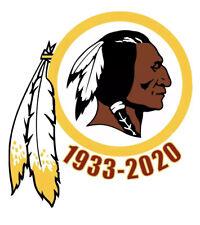 Washington Redskins 1933-2020 RIP Vinyl Sticker