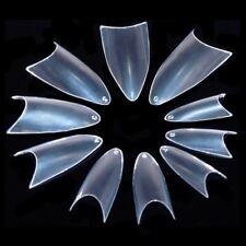 Ezi 500pcs Clear Sharp French False Nail Tips Full Nail # 550482c