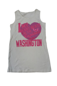 Outerstuff Youth Girls NHL My Heart Beats For The Washington Capitals Tank New M