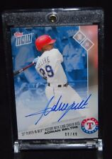 2017 TOPPS NOW #419B ADRIAN BELTRE AUTO CARD #8/49 3000TH CAREER HIT ON 7/30/17