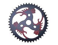 NEW! Bicycle Skull Head Sprocket 44T 1/2X1/8 Black/Red BMX MTB  Cruiser Lowrider
