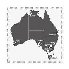 Large Australia Map 60cm X 60cm Vinyl Sticker Decal Sign Window Wall