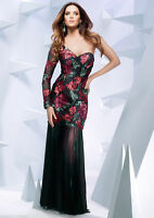 NEW Forever Unique Floral Sequin Embellished Maxi Long Prom Dress Pageant Gown 8
