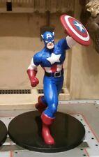 RARE! Marvel CAPTAIN AMERICA 2012 PVC Mini Action Figurine AVENGERS LOW BIN!