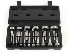 "16 Pc. Steel Forstner Drill Bit Set - 3/8"" Shank - Yonico 41160S"