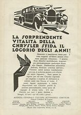 Y0051 Automobile CHRYSLER - Pubblicità 1928 - Advertising