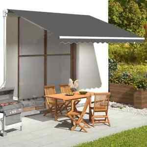 vidaXL Tissu de Remplacement pour Auvent Anthracite 4x3,5 m Store Banne Jardin
