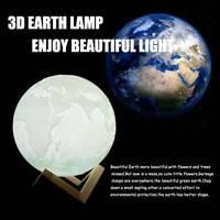 Print LED Earth Night Light Rechargeable LED Light Lamp Touching Night Light r