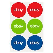 "3-Color, Round eBay-Branded Sticker Multi-Pack 3"" x 3"""