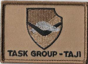 Army Australia Task Group Taji Iraq Deployment Patch with hook & loop backing