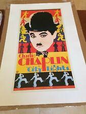 Charlie Chaplin City Lights 21 X 33 Movie Poster Mint Color