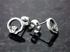 Stainless Steel Wee Claddagh Stud Earrings