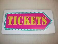 TICKETS ARROW Metal Sign Vintage Retro 4 Circus Carnival Fair Amusement Park