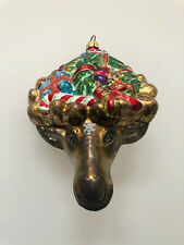 Slavic Treasures Cristmas Moose Christmas Ornament- Very Rare