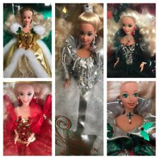 Lot of 5 HOLIDAY Barbies Special Edition NRFB  SEALED 1991- 1995